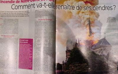 L'incendie de Notre Dame dans Télé Loisirs