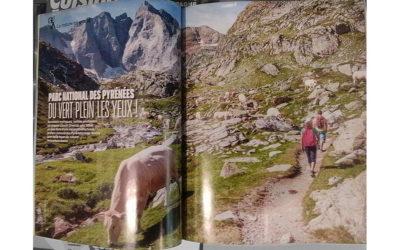 Double page dans le premier numéro du Routard Magazine.